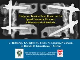 Comparison of Pedicle Screw Spinal Fixation for Fractures