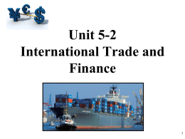 AP Macro 5-2 International Trade and Balance of Payments