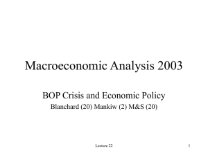 BOP Crisis and Economic Policy