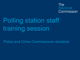 PCC-S-Briefing for polling station staff