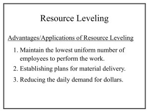 Resource Levelling