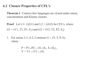 Closure Properties of CFL`s