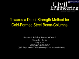 conf. presentation - Department of Civil Engineering