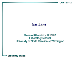 Gas Laws - University of North Carolina Wilmington
