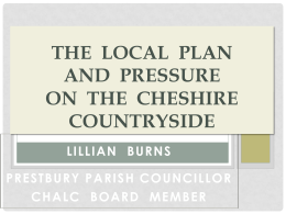 Local Plans and the pressures on the Cheshire