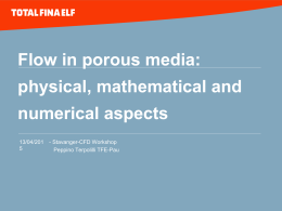 Flows in porous media: mathematical and numerical aspects