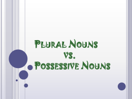 Plural Nouns vs. Possessive Nouns - St. James the Less