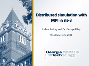 Distributed simulation with MPI in ns-3