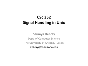 13 Signal Handling - Department of Computer Science
