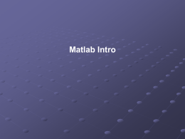 Intro Matlab - GitHub Pages