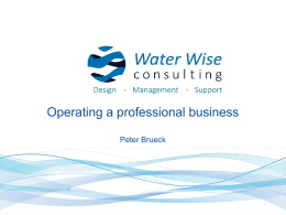 Operating a Professional Business