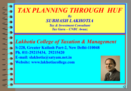 WELCOME TO TAX SEMINAR
