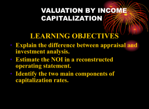 capitalization approach