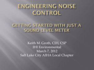 Engineering Noise Control: Getting Started with Just a Sound Level
