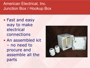 Junction Box Training Module - All Categories On American