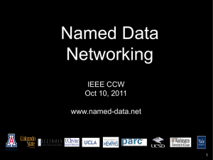 Named Data Networking - IEEE Communications Society