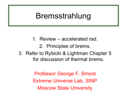 Thermal Bremsstrahlung - Extreme Universe Laboratory