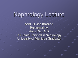 Nephrology Lecture