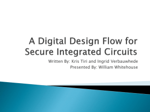 A Digital Design Flow for Secure Integrated Circuits