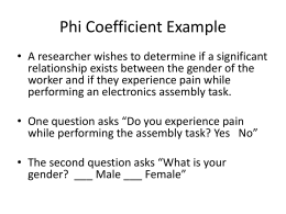 Phi Coefficient Example