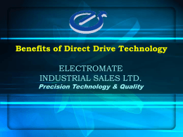Benefits of Direct Drive Technology