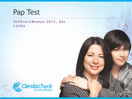 The Pap Test: EAL (English as an Additional Language) (PowerPoint)