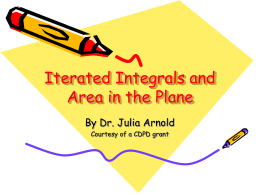 Multiple Integration - Iterated Integrals and Area in the Plane