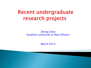 undergraduate research projects