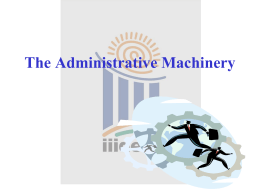 The Administrative Machinery - Chief Electoral Officer Jammu