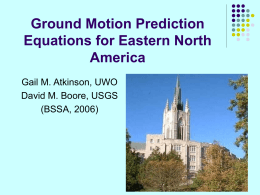 Campbell – Hybrid-empirical Ground Motion Model for