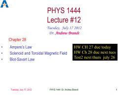 phys1444-lec12 - UTA HEP WWW Home Page