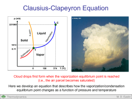 Clausius-Clapeyron Equation