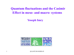 Quantum fluctuations and the Casimir effect