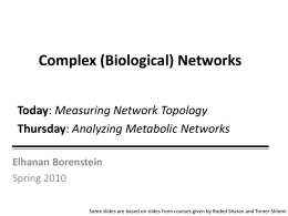 Presentation #1: Network Topology