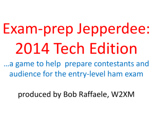 Exam Prep Jepperdee Technician- 2014