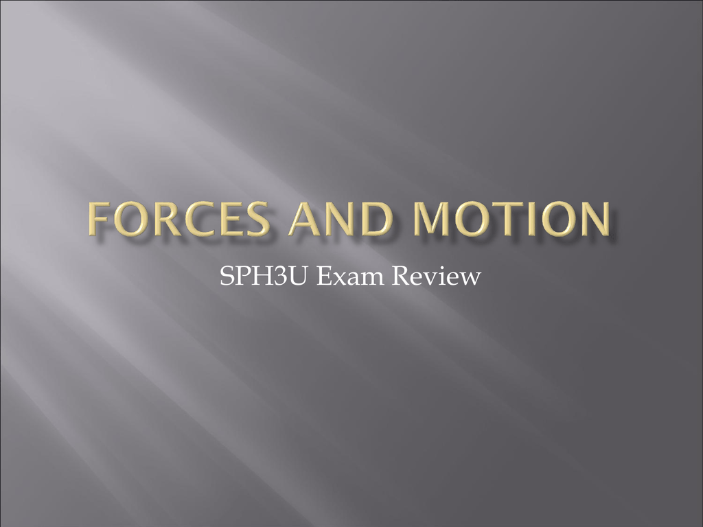 SPH3U Forces-and-Motion-Exam