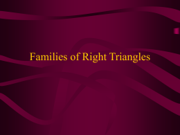 Families of Right Triangles