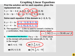 Ch 4-5 Graphing Linear Equations