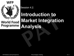 Introduction to Market Integration