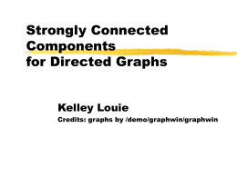 Strongly Connected Components for Directed Graphs