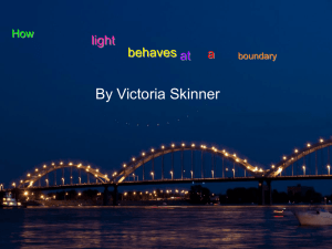 17.1 How Light Behaves at a Boundary