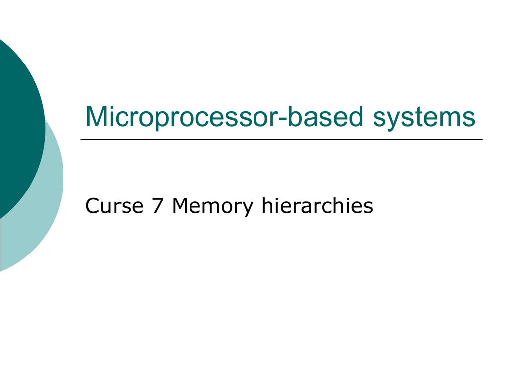 Cache memory with direct mapping on