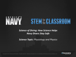 Science of Diving - Navy STEM for the Classroom