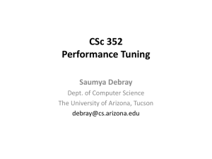 11 Performance tuning - Department of Computer Science