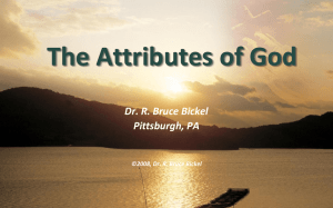 The Attributes of God – A PowerPoint Presentation