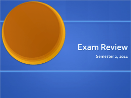Exam Review - Dublin Schools