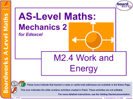 M2.4 Work and Energy