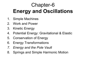 Energy and Oscillations