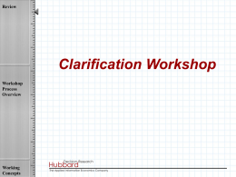 HDR-Clarification-Workshop