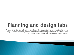 Planning and design labs